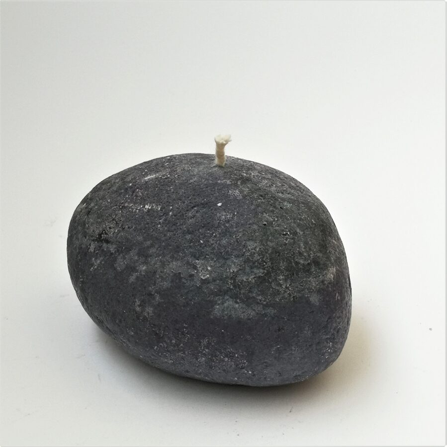 Stone candles or pebble candles made of vegetable stearin wax, Medium size