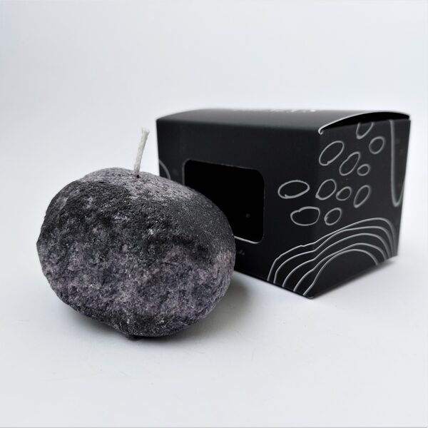 Small stone candles in box